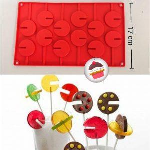 قالب سیلیکونی نی دار شکلات آبنبات