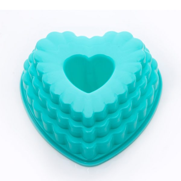 قالب ژله پلاستیکی قلب 3 طبقه