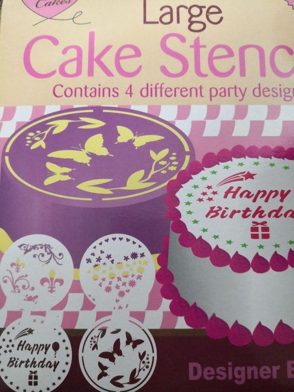 شابلون 4 عددی خارجی روی کیک