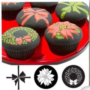 طلق فوندانت و شکلات سه رقمه پاپیون و گل