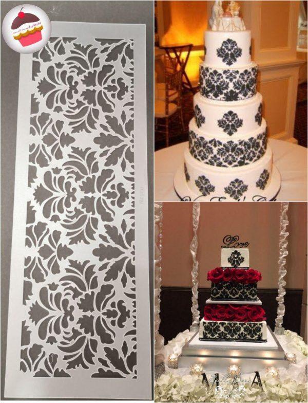 استنسیل دور کیک طرح حاشیه
