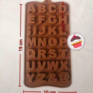 قالب شکلات حروف انگلیسی