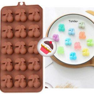 قالب سیلیکونی گیلاس مخصوص شکلات پاستیل و آبنبات
