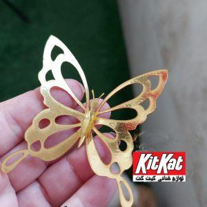 تاپر روی کیک طرح پروانه مدل 2
